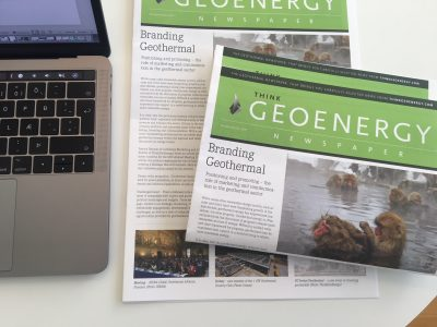 Next edition of the ThinkGeoEnergy Newspaper in the works – book your advertisement now