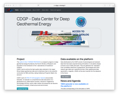 CDGP – Data Center for Deep Geothermal Energy releases first data on Alsace