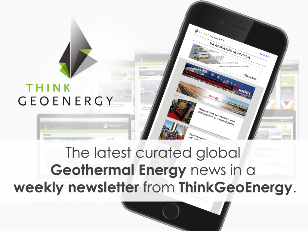Sign-up for our weekly newsletter – bringing you independent global geothermal news
