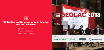 Exciting program released for GEOLAC geothermal conference, 17-18 July 2018 – Mexico City