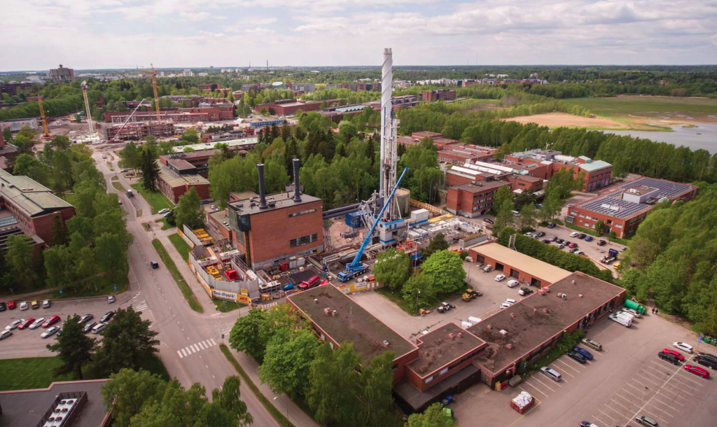 Drilling Finland's deepest well on record – the geothermal well at Otaniemi