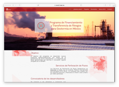 Call for Developers seeking support under Mexican geothermal risk transfer and financing program