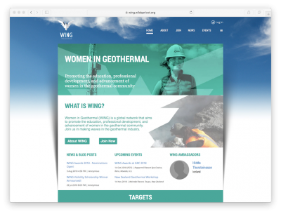 U.S. has taken on the global leadership of Women in Geothermal (WING)