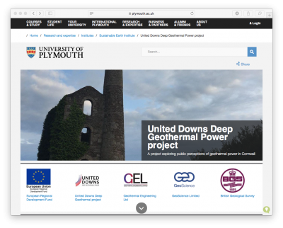 Exploring public perception of geothermal development in Cornwall, England