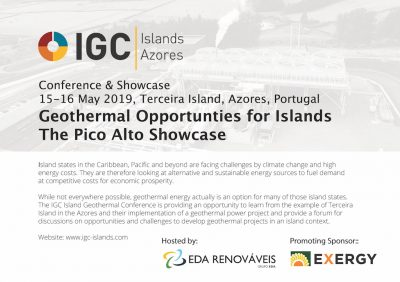 Geothermal Opportunities for Islands – Pico Alto Showcase 15-16 May 2018