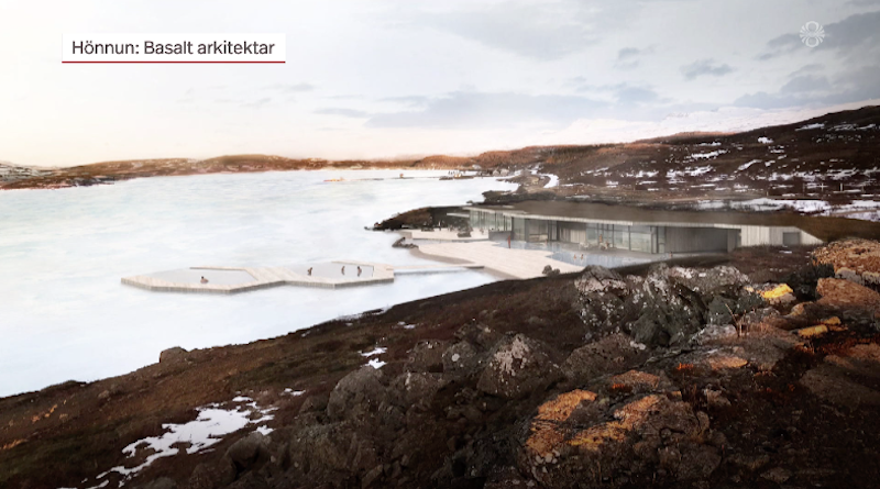 New geothermal bath being built at a lake in the East of Iceland
