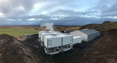 New small-scale geothermal plant set up at Reykholt, Iceland