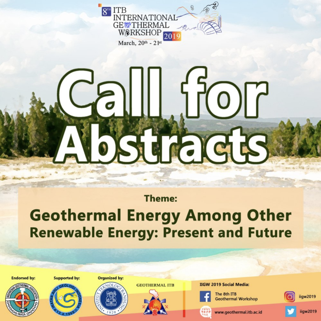 Call for Abstract – ITB International Geothermal Workshop, Bandung, Indonesia