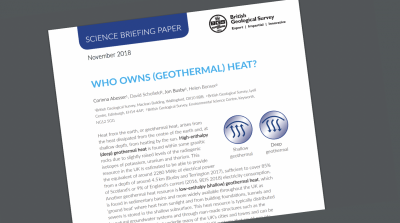 British Geological Survey releases policy position on ownership of geothermal heat