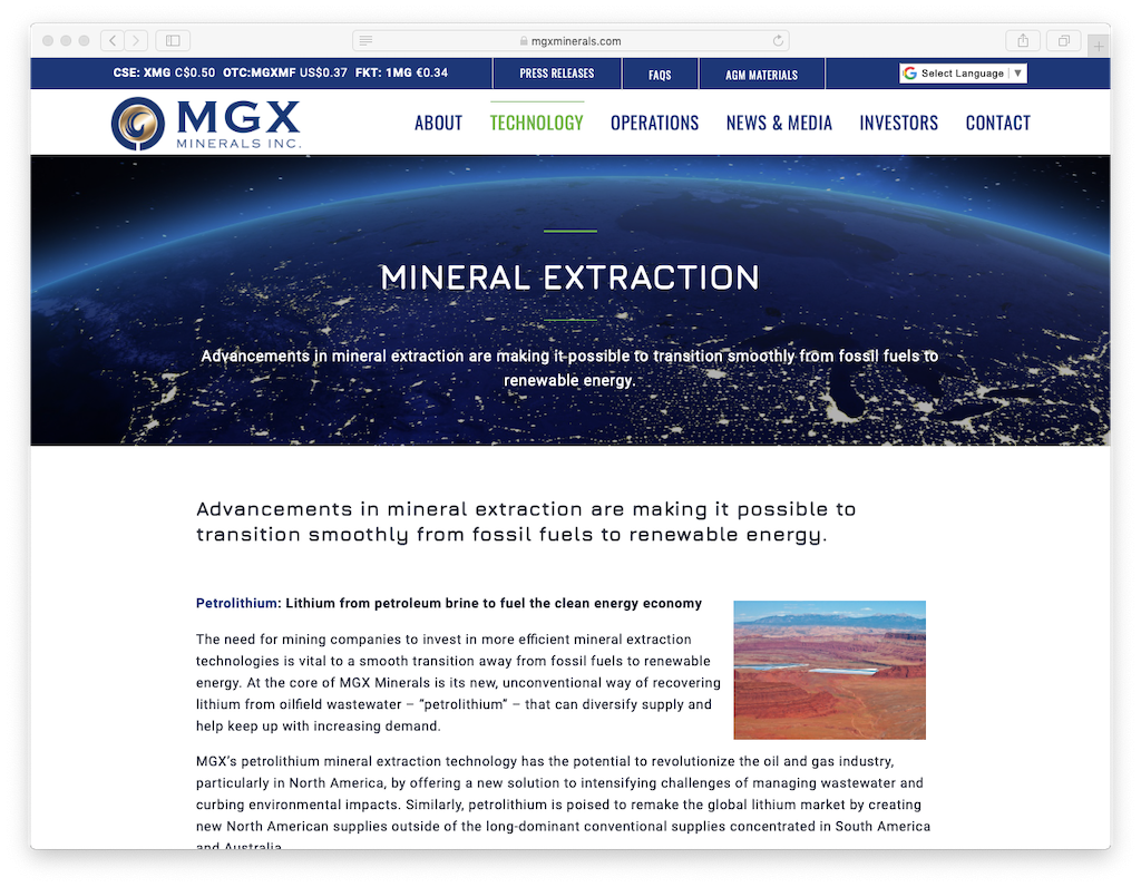 MGX Minerals advances geothermal lithium brine extraction strategy in U.S.