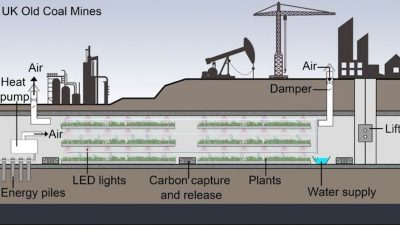 Using geothermal heat to operate greenhouses underground in abandoned mines