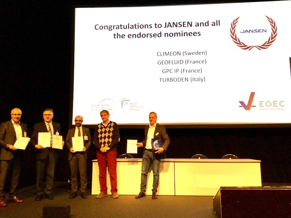 Borehole heat exchanger by Jansen AG – geothermal innovation of the year