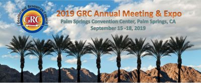 Registration opens for GRC Annual Meeting, 15-18 Sept. 2019 in Palm Springs