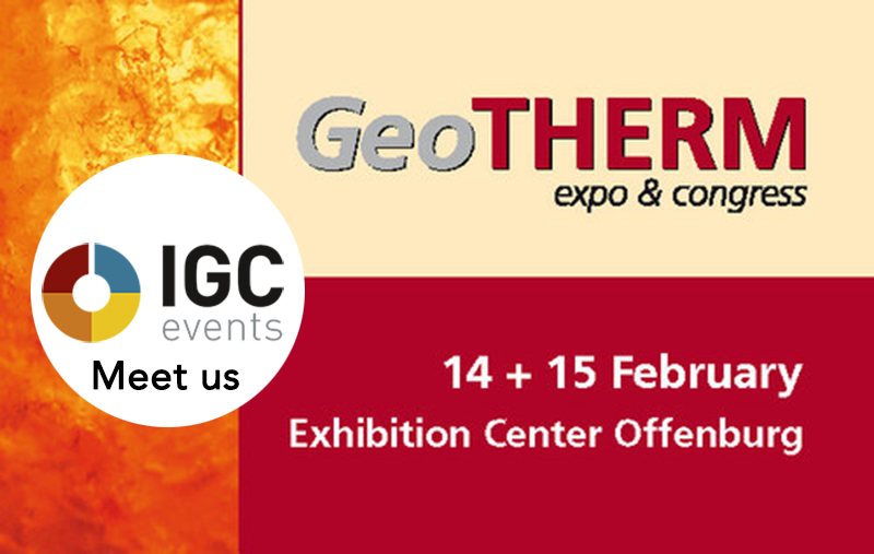 Meet us at the GeoTHERM expo & congress in Offenburg/ Germany – 14-15 February 2019