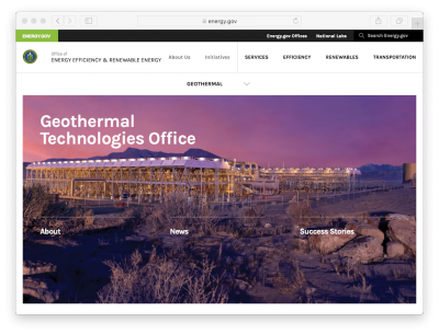 Webinar – 23 Jan. 2020 – Quarterly Update DOE Geothermal Technologies Office