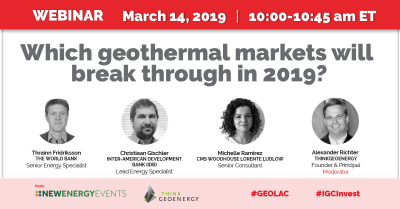 Webinar: Which geothermal markets will break through in 2019? – 14 March 2019