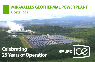 Costa Rica celebrates 25 years of sustainable geothermal generation