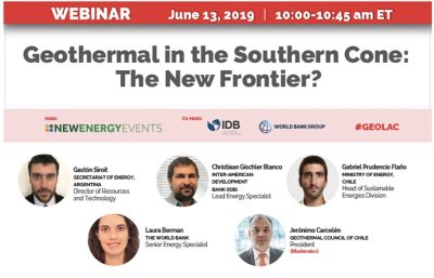 Webinar on the future of geothermal in Chile and Argentina – June 13, 2019