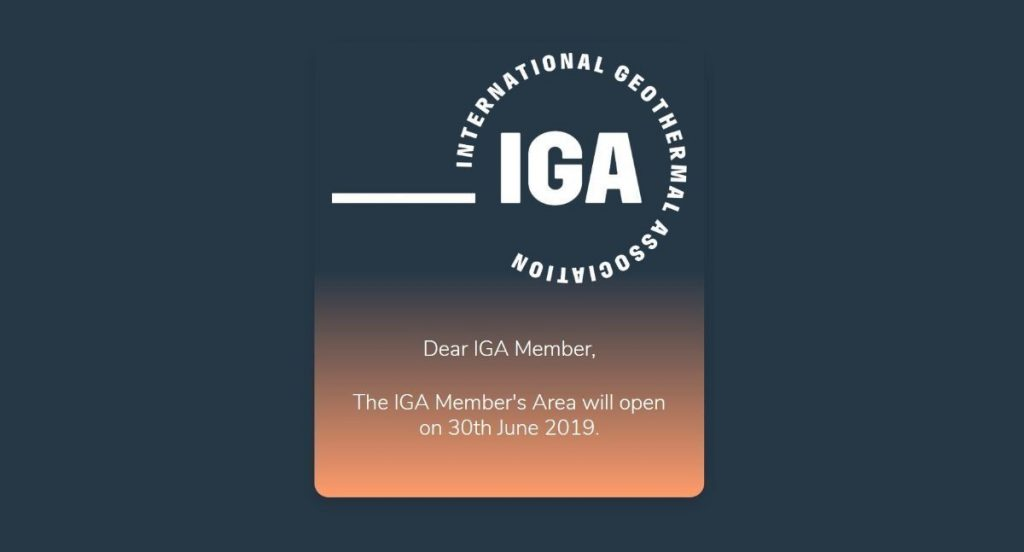 Elections for the Board of the International Geothermal Association to start June 30, 2019