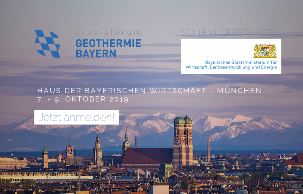One week until the 7th Praxisforum Geothermie.Bayern conference in Munich, Germany