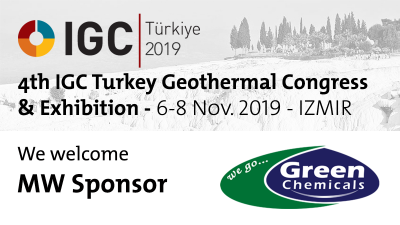 Green Chemicals one of the key sponsors of IGC Turkey Geothermal Congress – 6-8 Nov. '19