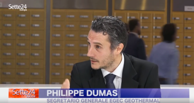 Philippe Dumas of EGEC discusses role of geothermal in the energy transition on Italian TV
