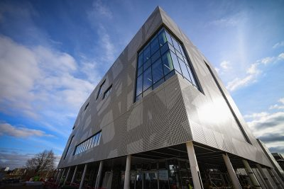 New sports complex of Solent University/ UK connected to Southampton geothermal heating plant