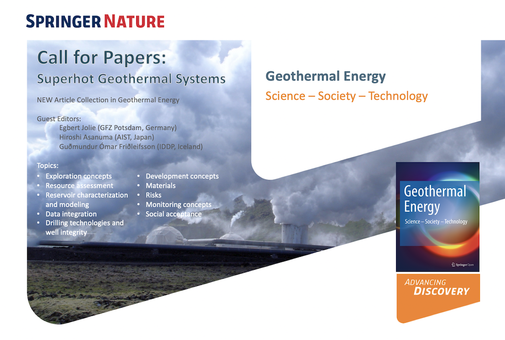 Call for papers – Future of superhot/ supercritical geothermal systems – SpringerOpen