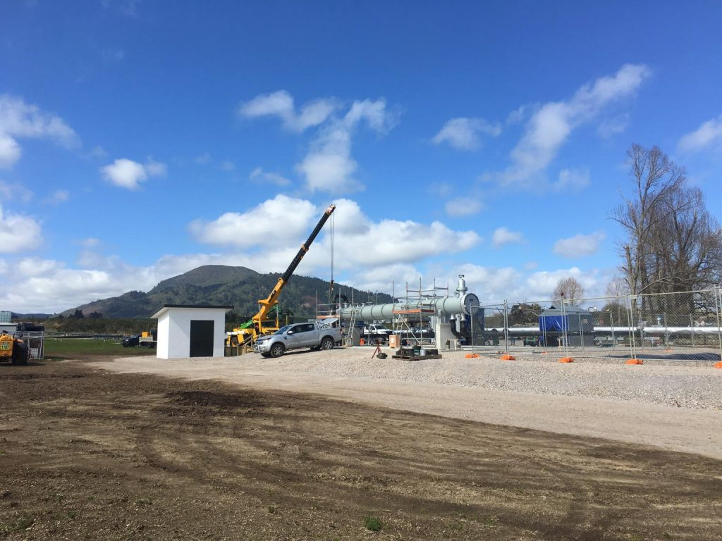 New system to provide heat to wood pellet manufacturing plant started in Taupo, NZ