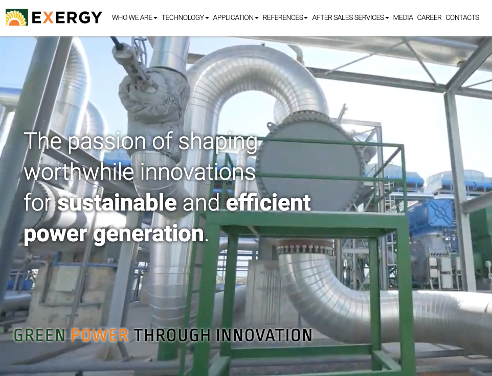 Exergy ORC restarts with TICA to boost integrated systems and advanced green power generation