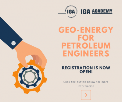 IGA Academy – Geo-energy for Petroleum Engineers, 10 Feb. 2020