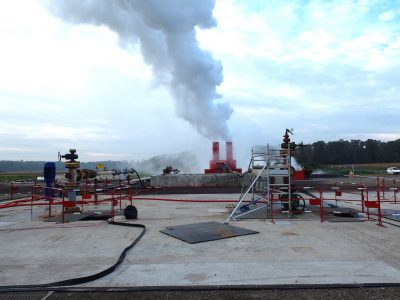 Geothermal energy use for heat at Rittershoffen with a fraction of emissions from natural gas