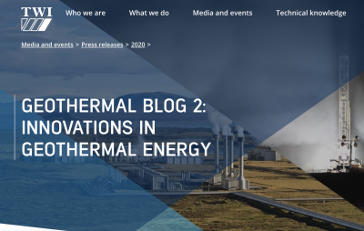 Innovations in geothermal energy – fluid chemistry, drilling technology, and materials
