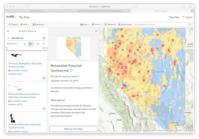 U.S. Geological Survey (USGS) maintains resourceful website with geothermal data