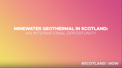 Webinar recording: Minewater geothermal energy opportunities in Scotland