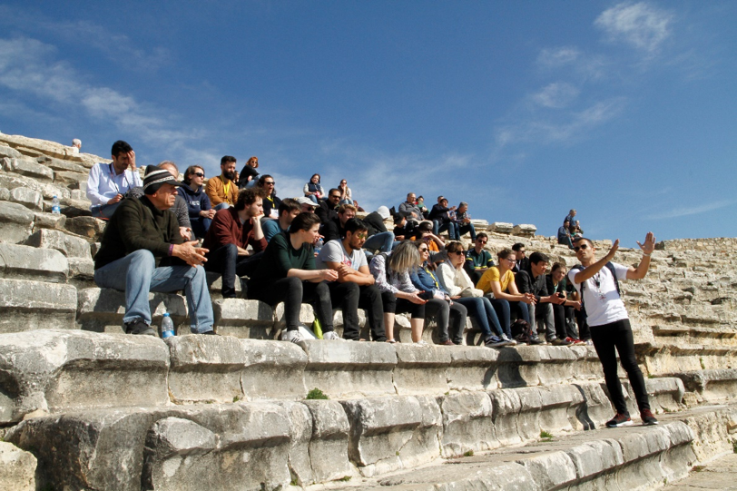 Professional guided tour to Hierapolis ancient city in Denizli Turkey during EGPD 2020