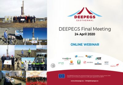Webinar – DEEPEGS Geothermal – Final Meeting, 24 April 2020