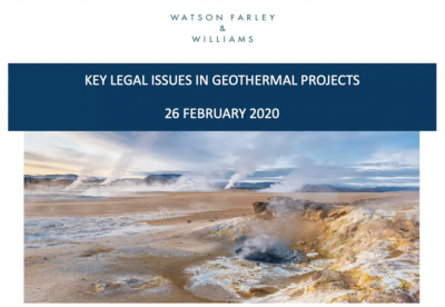 Webinar Recording IGC Invest – Key legal issues in geothermal development in Germany – WFW