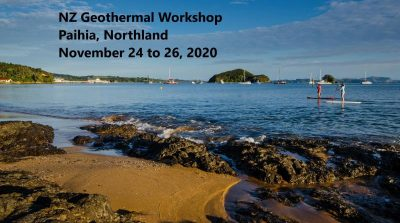 Save the Date – 2020 NZ Geothermal Workshop, Paihia, Northland, NZ, 24-26 Nov. 2020