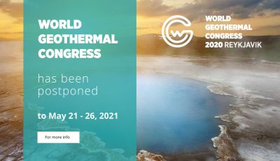 World Geothermal Congress 2020 postponed to 21-26 May 2021