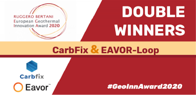 Carbfix and Eavor receive European Geothermal Innovation Award 2020