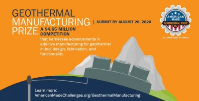 Geothermal Manufacturing Prize Webinar – 27 May 2020