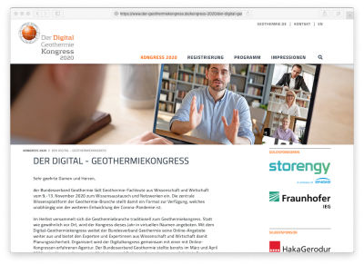 German Geothermal Congress to be held digitally, November 2020
