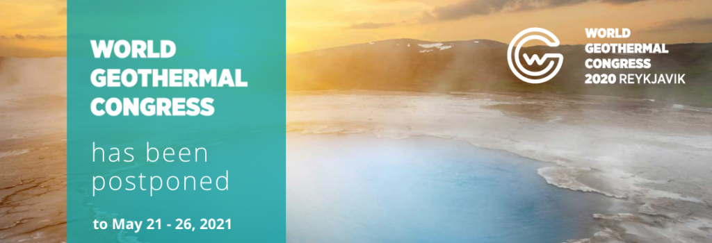 World Geothermal Congress 2020+1 – New abstracts deadline Sept 30, 2020