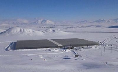Geothermal allowing growth of tomatoes in greenhouses in coldest part of Turkey