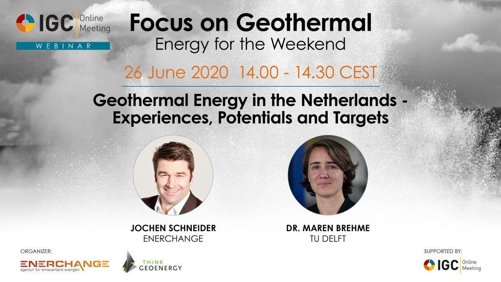 Webinar – Geothermal in the Netherlands – Experience, Potential and Targets