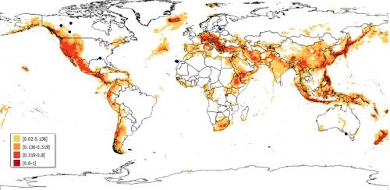Global map to identify areas suitable for geothermal power plants