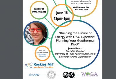 Webinar – Building the future of energy with O&G expertise, geothermal – June 16, 2020