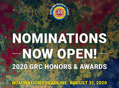 GRC invites nominations for its annual GRC Geothermal Honors & Awards