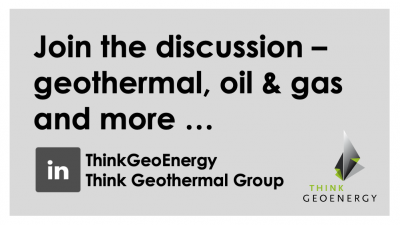 Join the discussion – the ThinkGeoEnergy Geothermal Group on LinkedIn
